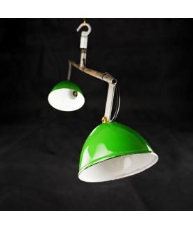 1950s Industrial Double Lamp Pendant